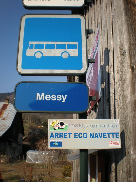 Regional bus stop, France.  At least they are upfront with the description of their bus.
