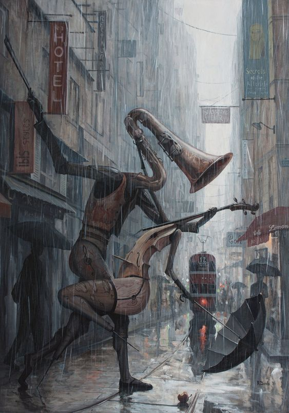jddub916:  insolitum:  Life is a Dance in The Rain III by borda   Dope art work!!!!