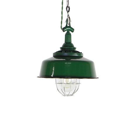 Enamel Oval Green