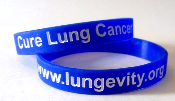 """LUNGevity """"Bandy"""" lung cancer awareness wristband. Exclusive not for sale- pick yours up at awareness events, hospitals, support groups...etc.  www.LUNGevity.org"""