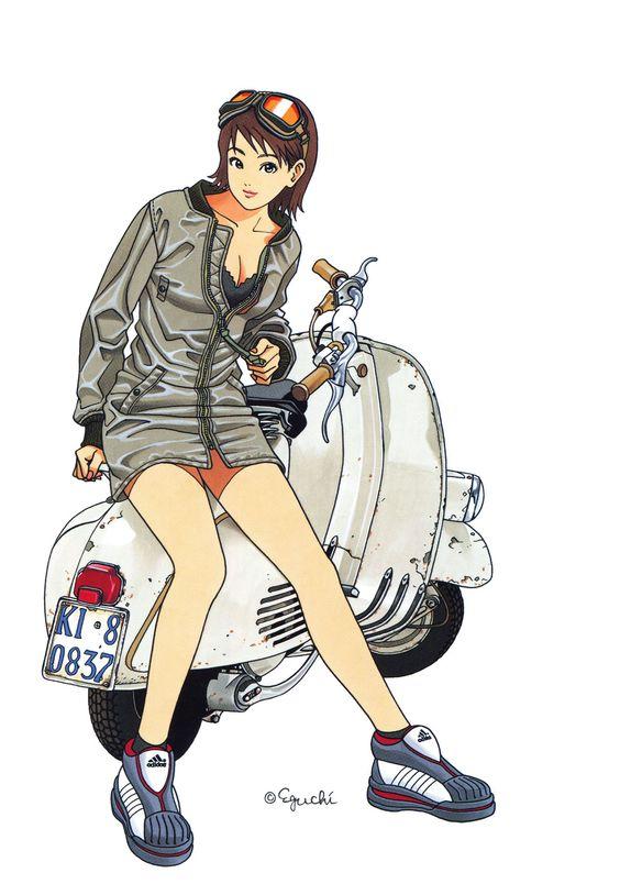 江口寿史のスクーター画像