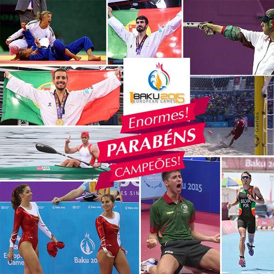 Hoje celebramos as vitórias portuguesas nos jogos europeus!