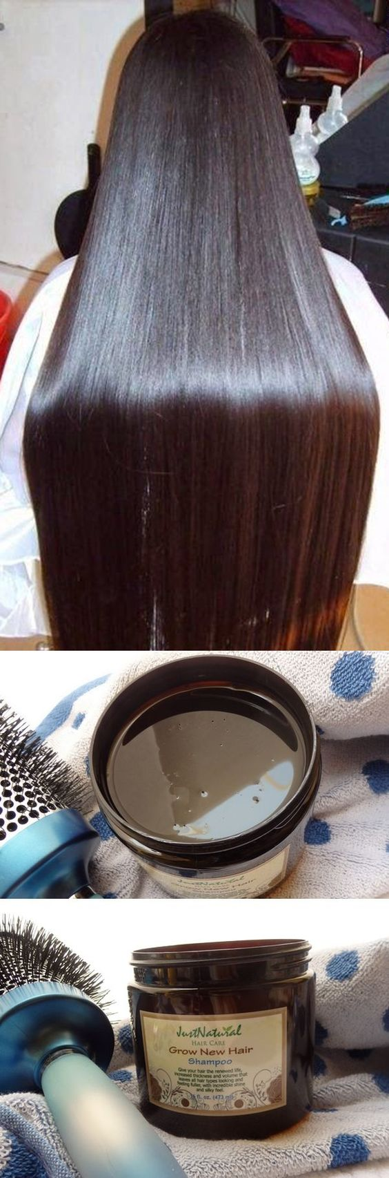 My friend recommended this solution for thinning hair, now my hair grows so much faster