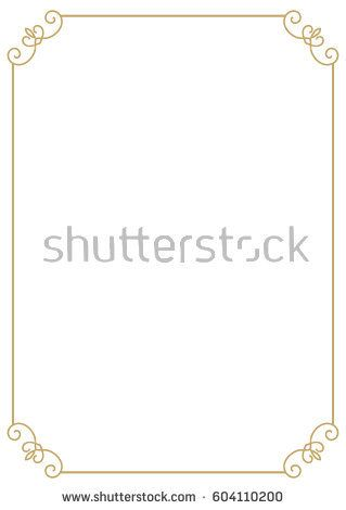Vintage Premium A4 Size Frame Border Divider For Your Design Menu Website Certificate And Other Documents Decor Silhouette Ova Vector Simple Borders Frame