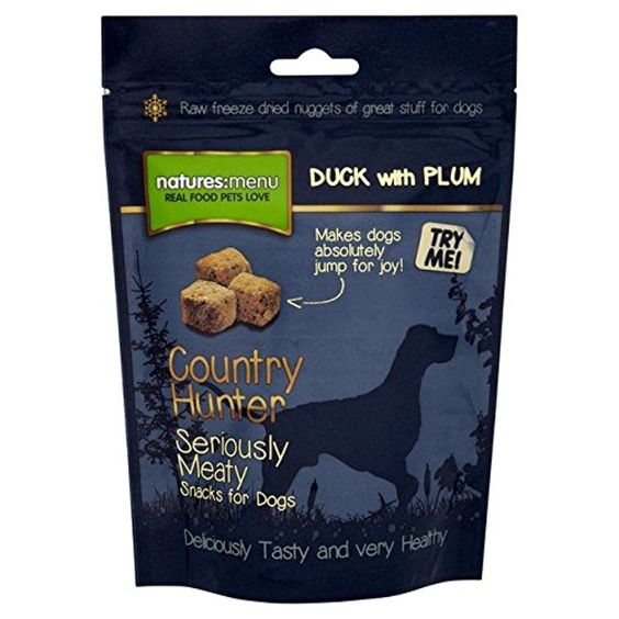 Natures Menu Country Hunter Duck & Plum Freeze Dried Snack for Dogs 50g (PACK OF 6) -- Awesome products selected by Anna Churchill