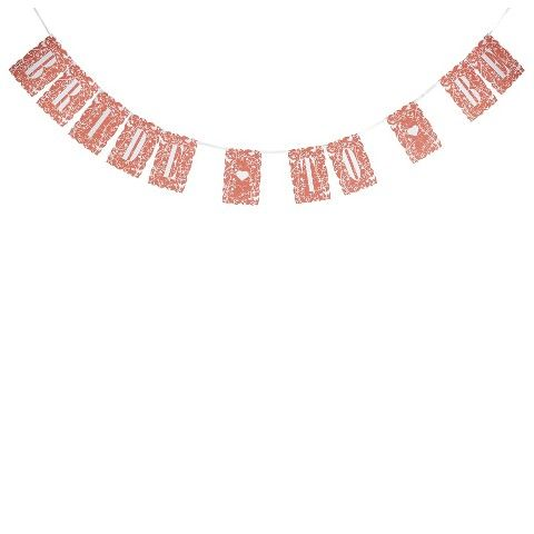 """Bride to Be"" Floral Banner - Coral - decorations (($))"