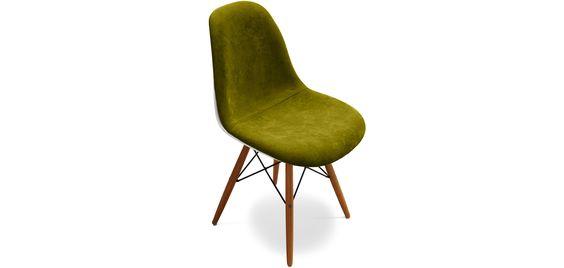 Chaise DSW Piètement foncé Charles Eames Style - Tissu