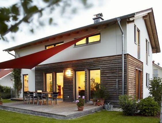halbhohe holzverkleidung an der fassade house pinterest. Black Bedroom Furniture Sets. Home Design Ideas