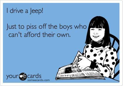 Yes! Jeep Wranglers, soft top