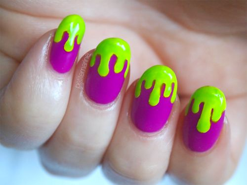 Paint Drip Nail Art Nailarts Ideas