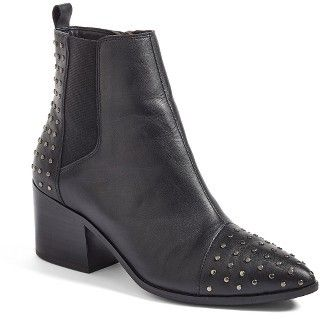 Salty Lashes | Black studded ankle booties. Women