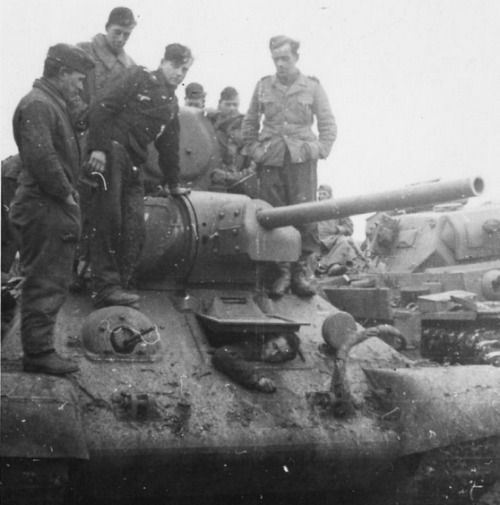 T-34 with dead driver