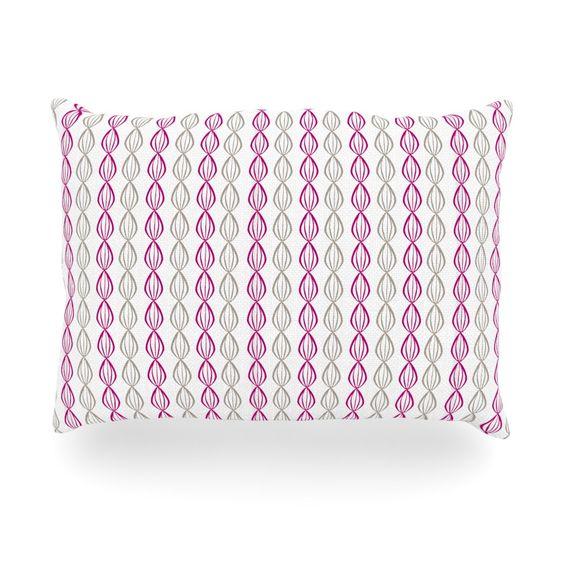 """Julie Hamilton """"Plum Pod"""" Purple Gray Oblong Pillow"""