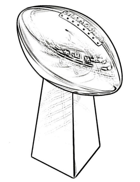 Super Bowl 50 Coloring Page Superbowl Coloring Pages Coloring Home In 2020 Super Bowl Super Bowl Trophy Super Bowl Decorations