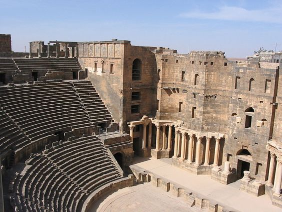 The Roman Theater at Bosra, Arabia Petraea (modern Syria)