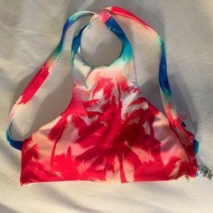 NWT Pink Crossback Bikini Top