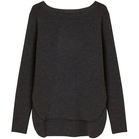 Gerard Darel Boulevard Jumper , Anthracite (12.760 RUB) ❤ liked on Polyvore featuring tops, sweaters, anthracite, boatneck sweater, bateau neck sweater, gérard darel, gerard darel sweater and jumper top