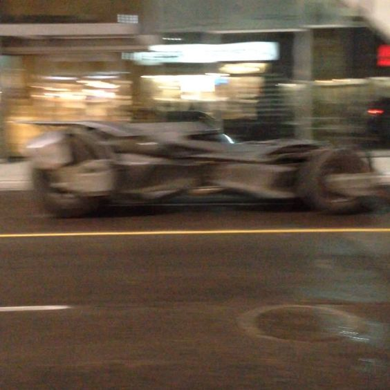 The #BatMobile was spotted in Toronto on the set of the filming of #SuicideSquad