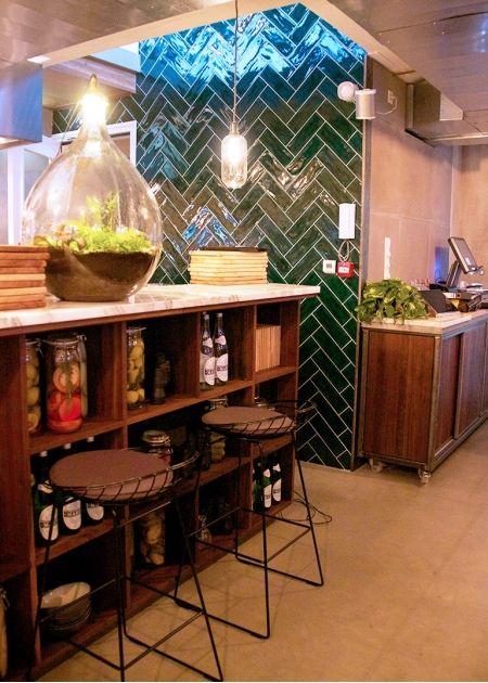 Wt urban café & kitchen, utrecht, nl. tiles tonalite kraklė ...