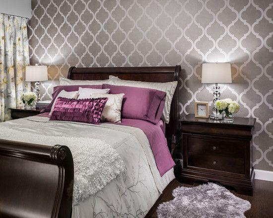 Grey Wallpaper For Bedroom - Home Design