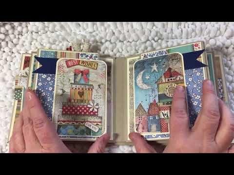 Stamperia Patchwork Mixed Media Mini Book Youtube Mini Books Mini Scrapbook Albums Mini Albums Scrap