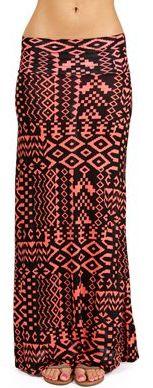 #Windsor                  #Skirt                    #Coral/Black #Tribal #Maxi #Skirt                   Coral/Black Tribal Maxi Skirt                                                 http://www.seapai.com/product.aspx?PID=1757406