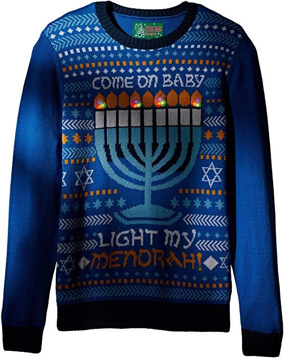 This Is How We Jew It Ugly Women/'s Long Sleeve Tee Hannukah Torah Menorah Funny