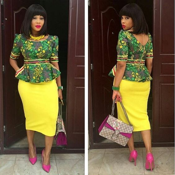 Ankara Peplum Top Styles And Designs