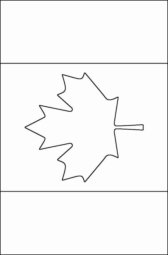 Cool Maple Leaf And Goose Coloring Page Flag Check More At Http