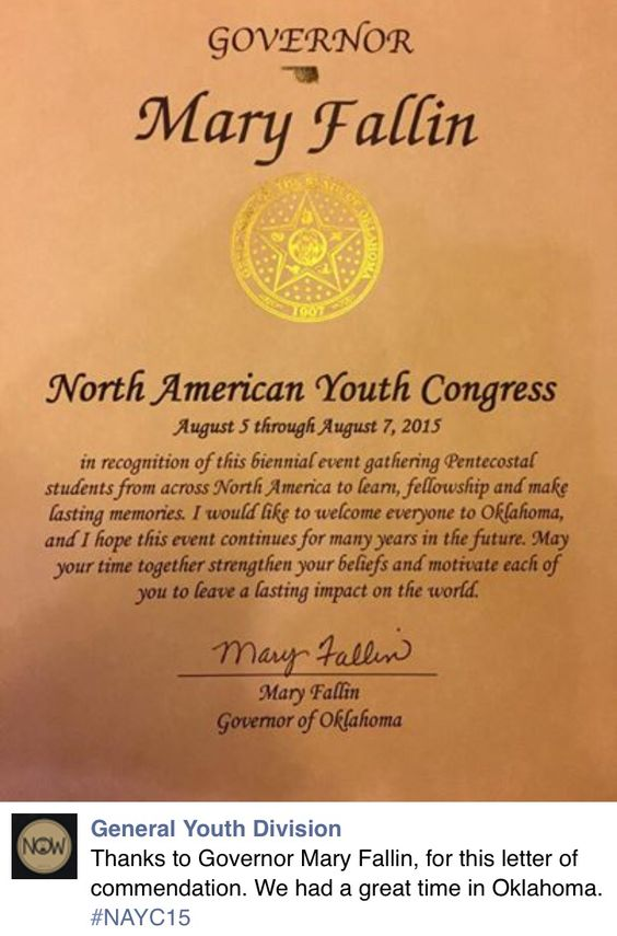 Nayc  Commendation Letter From The Governor  Nayc