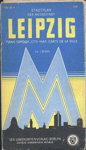 Leipzig. Stadtplan. ca. 1:15 000, VEB Landkartenverlag, 1969 (?), http://www.antykwariat.nepo.pl/leipzig-stadtplan-ca-115-000-p-13526.html