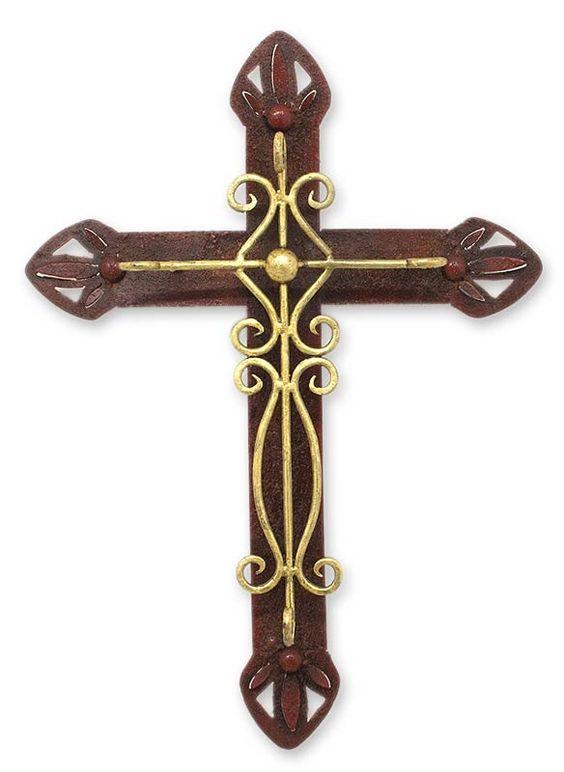 Parish Church Cross Iron Sculpture Wall Décor