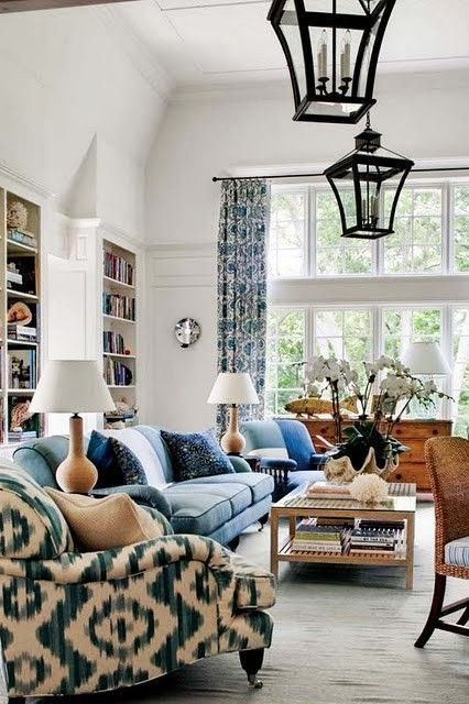 Amazing Blue and White Traditional Interior Design Ideas! #livingroom #traditional #interiordesign #blueandwhite