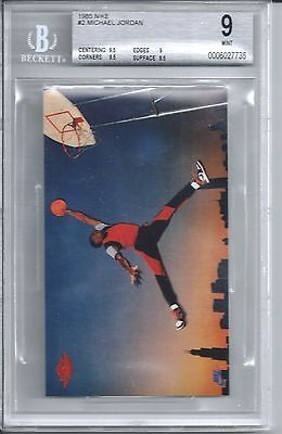 cool 1985 Nike Basketball Michael Jordan Rookie Card BGS 9 - For Sale
