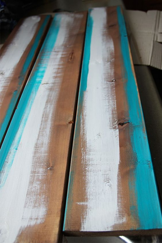 Easy DIY steps to make your own barn board, with vinegar and steel wool.