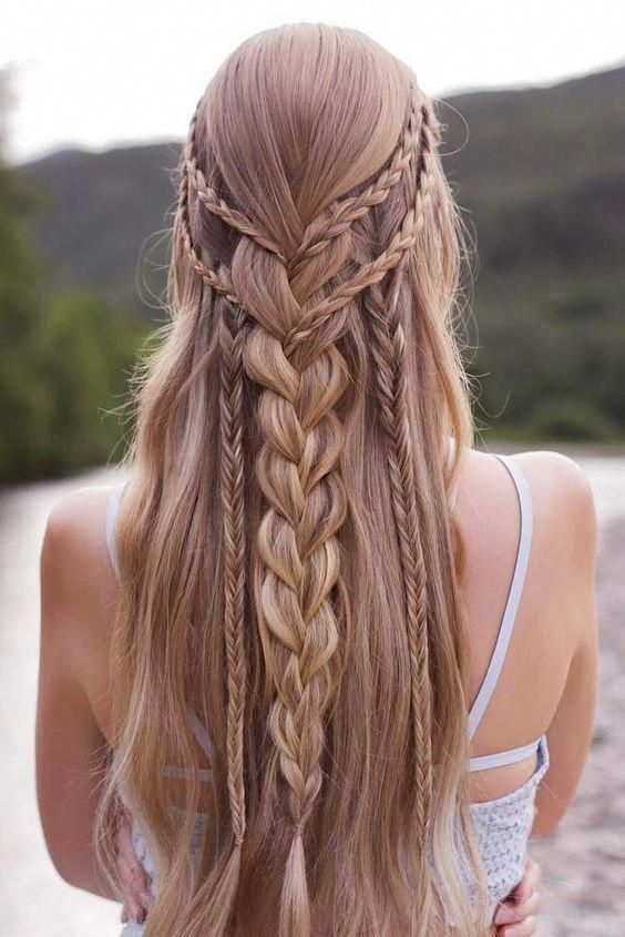 20 Simple And Easy Braid Hairstyle Ideas For Long Thick Hair Styles Hair Styles Easy Braids