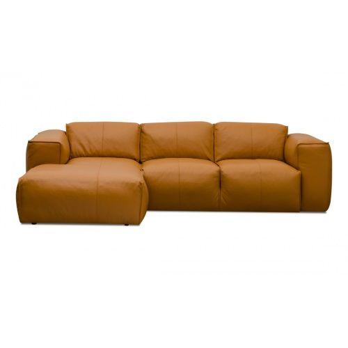Sofa modern günstig  Ecksofa Hudson III Semianilin-Leder Cognac Rechts günstig online ...