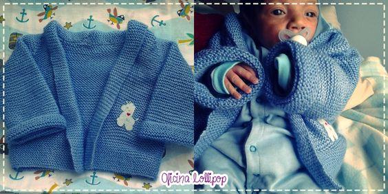 Olá!      Passeando pela net achei um blog com inúmeras receitas de tricô!!      Peguei essa do casaquinho de bebê e fiz para o meu pequeno...
