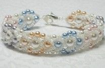 Little Girl Rainbow Pearl Bracelet Pattern - Item Number 16637 at Bead-Patterns.com