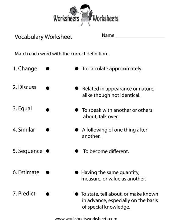 Printables Sixth Grade Vocabulary Worksheets printables free printable 6th grade vocabulary worksheets english building and on pinterest 4th worksheets