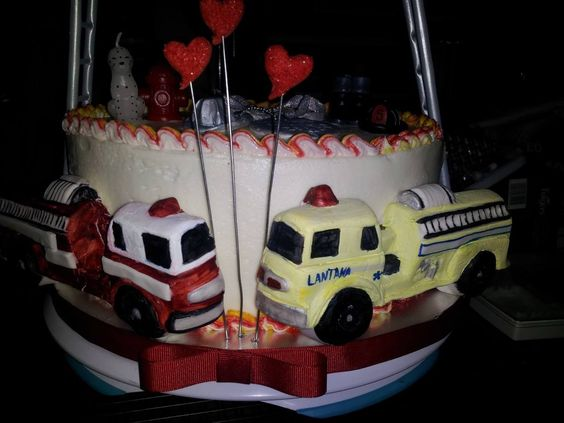 Fire Fighter Anniversary Cake