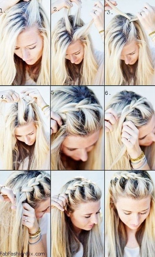 30 French Braids Hairstyles Step By Step How To French Braid Your Own French Braids Hairstyles Step By Step H Hair Styles Long Hair Styles Medium Hair Styles