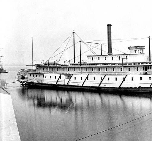 """The stern-wheeler """"Wide West"""", probably on the Columbia River in 1880 built in Portland, Oregon in 1877 :: Ben Maxwell Collection"""