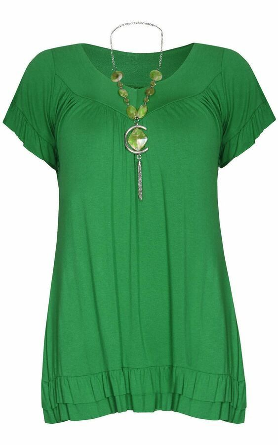 NECK SUMMER TUNIC WOMEN/'S TOP PLUS SIZES LADIES NEW FRILL NECKLACE GYPSY TOP V