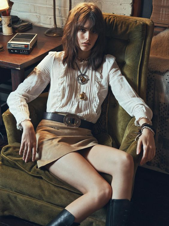 editorial from Vogue Paris ( february), styled by Geraldine Saglio. An ode to the 70's! …: