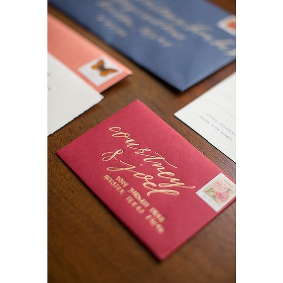 @papellerie knocked it out of the park with Courtney & Joel's wedding stationery!! See more of the pretty on the blog now ! #aliciapynephotography  #calligraphy @something_to_celebrate  @afe_houston #riveroaksgardenclub