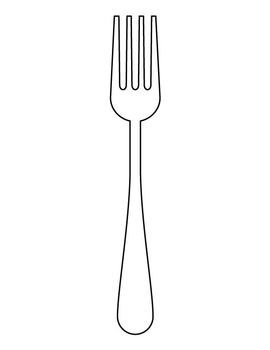 fork pattern use the printable outline for crafts creating stencils scrapbooking and more. Black Bedroom Furniture Sets. Home Design Ideas