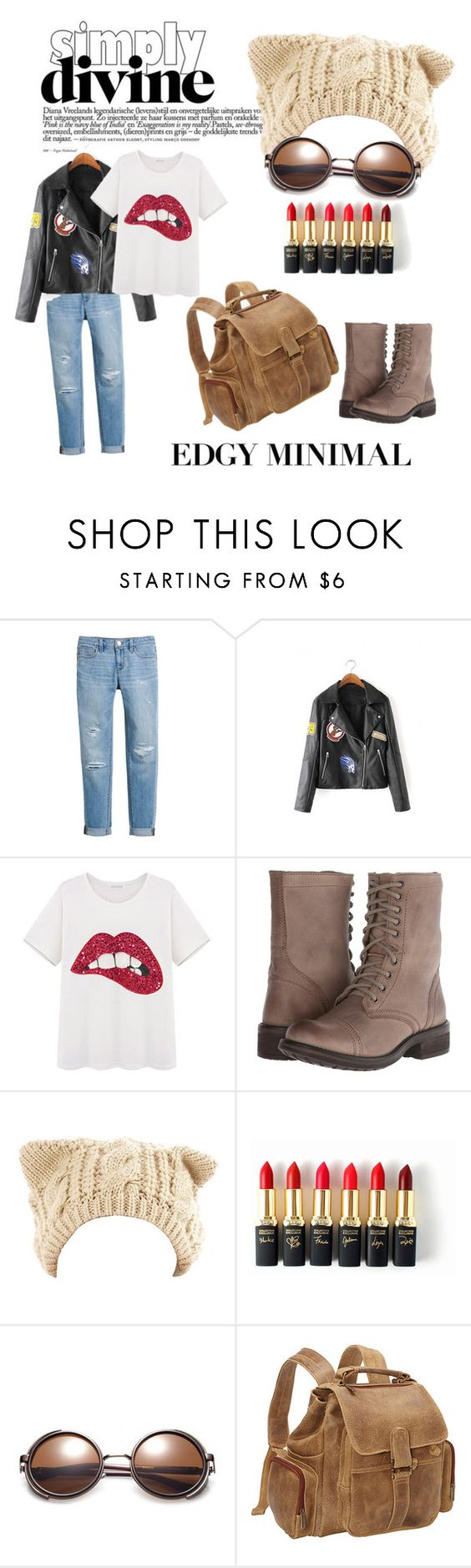 """""""Edgy Minimal"""" by the-cat-without-a-hat ❤ liked on Polyvore featuring White House Black Market, Steve Madden, L'Oréal Paris and Le Donne"""