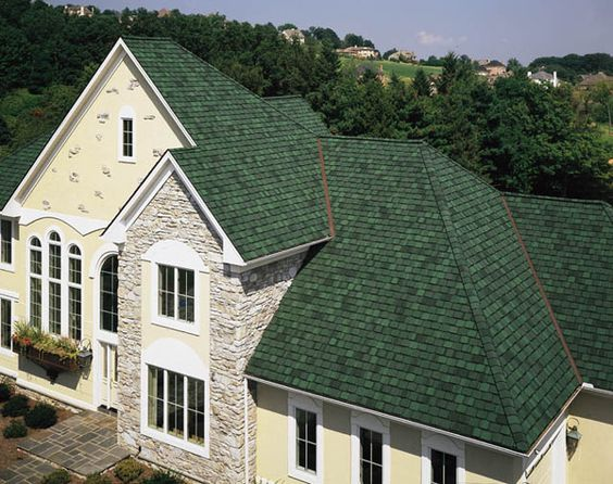 Best Houses With Green Shingle Roofs Certainteed Brand 640 x 480