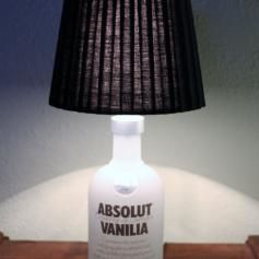 "Light up your day 💡 with a upcycling  ""Absolut Vodka Bottle Lamp"" 👌"